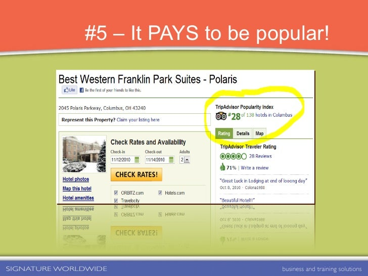 #5 – It PAYS to be popular!