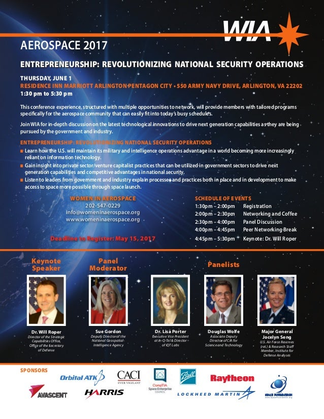 SPONSORS ENTREPRENEURSHIP: REVOLUTIONIZING NATIONAL SECURITY OPERATIONS Dr. Will Roper Director of the Strategic Capabilit...