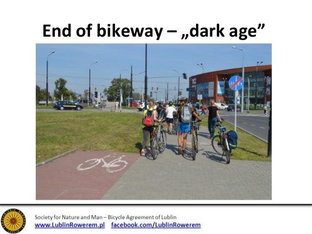 End of bikeway – yield