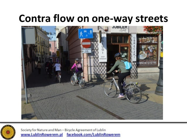 Contra flow on one-way streets