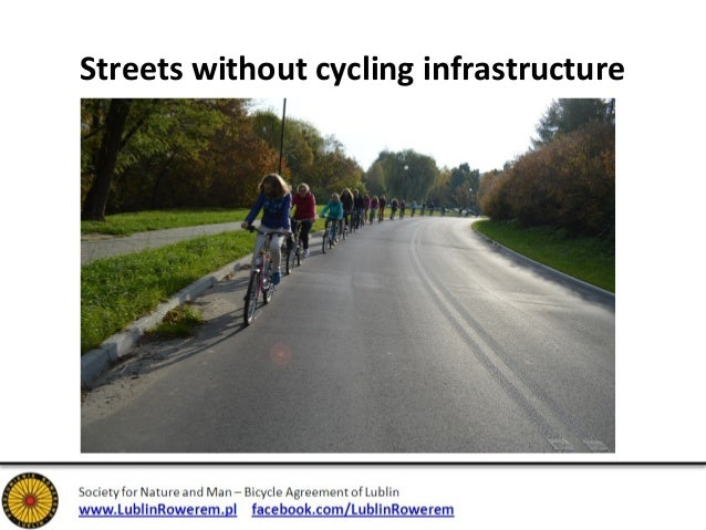 Streets without cycling infrastructure