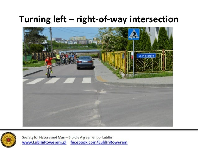 Turning left - from the middle of street