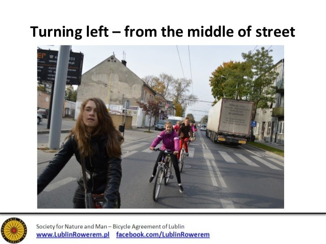 Turning left – from the middle of street