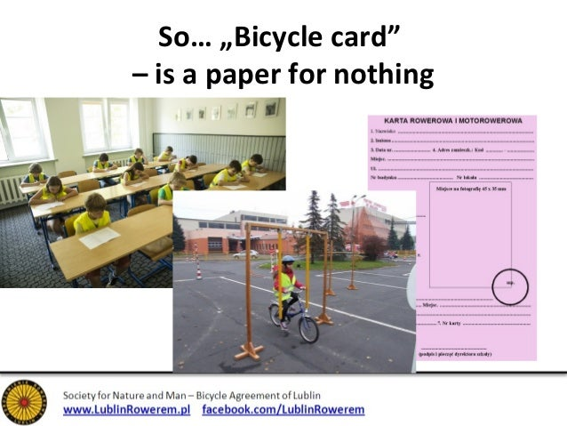 """So… """"Bicycle card""""  – is a paper for nothing"""