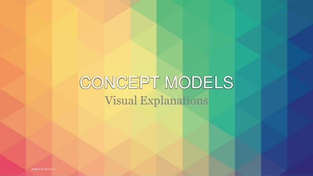 WORLD IA DAY 2017 CONCEPT MODELS Visual Explanations