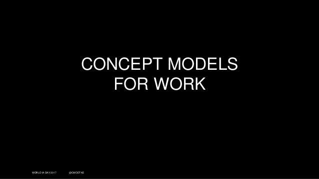 WORLD IA DAY 2017 @CWODTKE CONCEPT MODELS FOR WORK