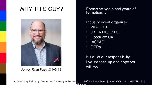 WIADDC19: Architecting IA Industry Events for Diversity & Inclusion Slide 2