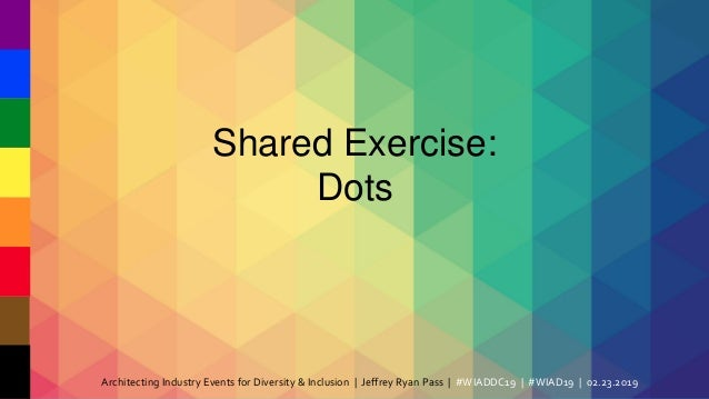 WIADDC19: Architecting IA Industry Events for Diversity & Inclusion Slide 3
