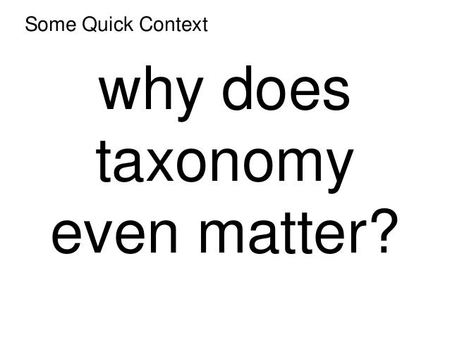 A Beginner's Guide to Taxonomy