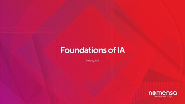 February 2018 FoundationsofIA