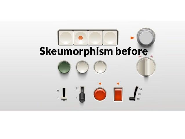 Skeumorphism now