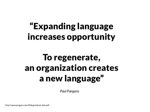 Language of social systems