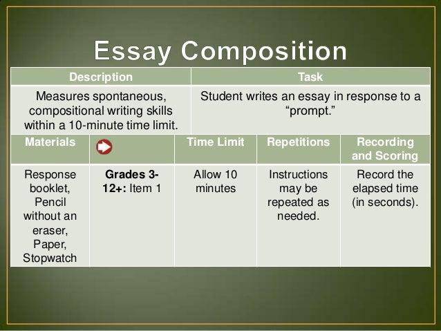 essay scoring wiat iii