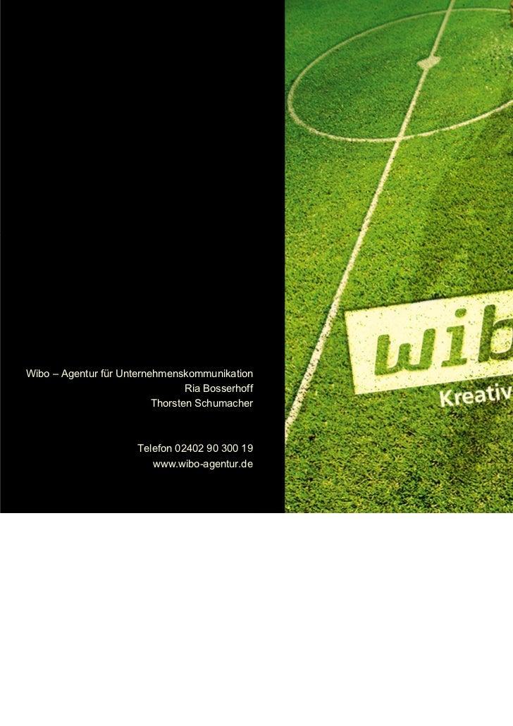 Wibo – Agentur für Unternehmenskommunikation                                 Ria Bosserhoff                          Thors...
