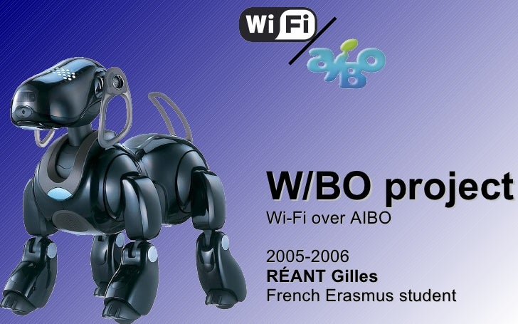W/BO project Wi-Fi over AIBO 2005-2006 RÉANT Gilles French Erasmus student