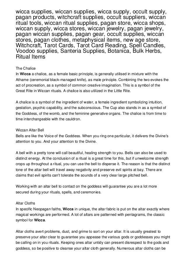Wicca Supplies Wiccan Supplies Wicca Supply Occult Supply Pagan P