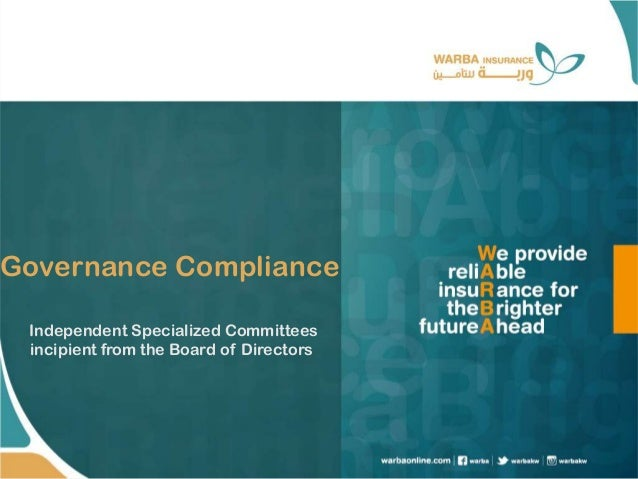 Governance Compliance Independent Specialized Committees incipient from the Board of Directors