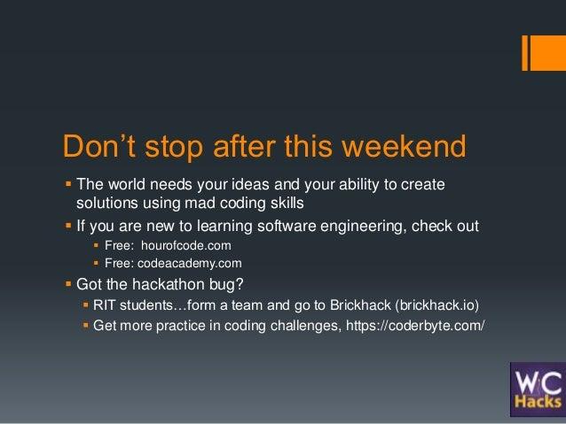 WICHacks, Women in Computing Hackathon, keynote at RIT in