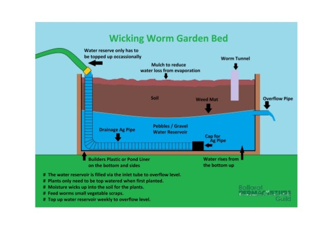 Wicking Worm Garden Bed For Drought Gardening