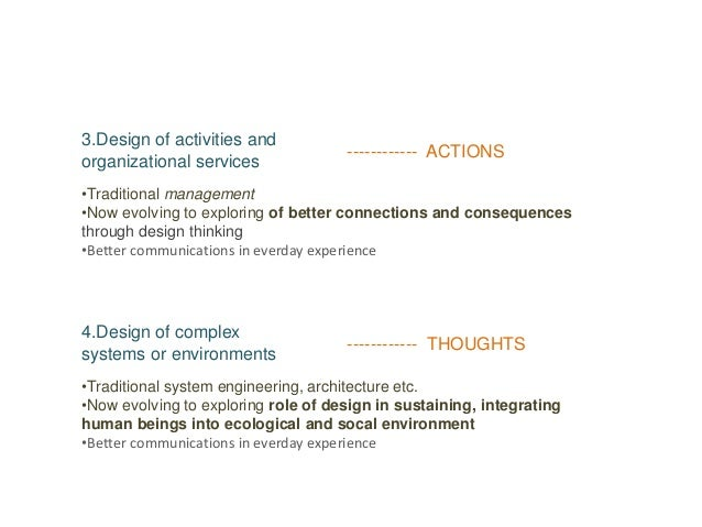3.Design of activities and organizational services •Traditional management •Now evolving to exploring of better connection...