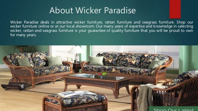Welcome To Perfect Place To Buy Furniture Online; 2. About Wicker Paradise  ...