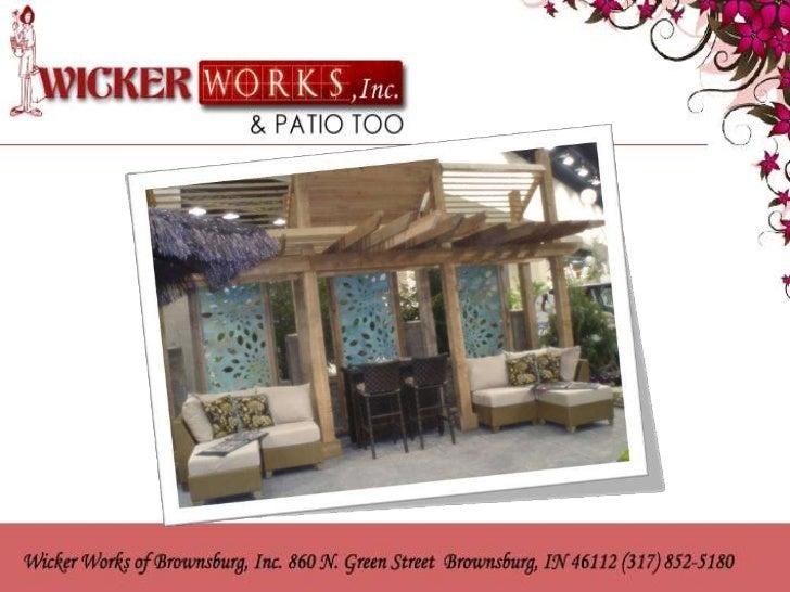 Attractive Wicker Patio Outdoor Furniture Indianapolis