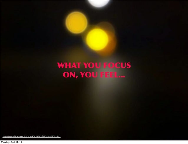 WHAT  YOU  FOCUS   ON,  YOU  FEEL... http://www.flickr.com/photos/80901381@N04/8202052141 Monday, April 14, 14