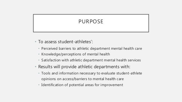 Mental Health Care In College Athletic Departments Wellness In Colle