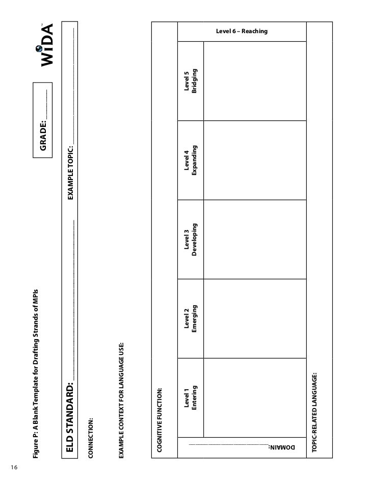 Interactive WIDA Standards Lesson Plan Template ESLELDELL TpT Mrs - Wida lesson plan template