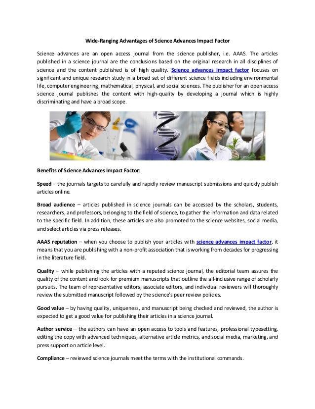 impact science advances factor advantages wide ranging slideshare journal proxima