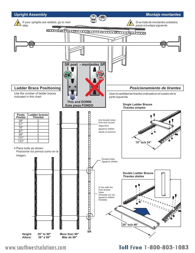 Wide Span Bulk Racks Assembly Instructions