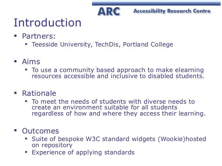 Wide BSI/JISC Accessibility SIG meeting presentation Slide 2