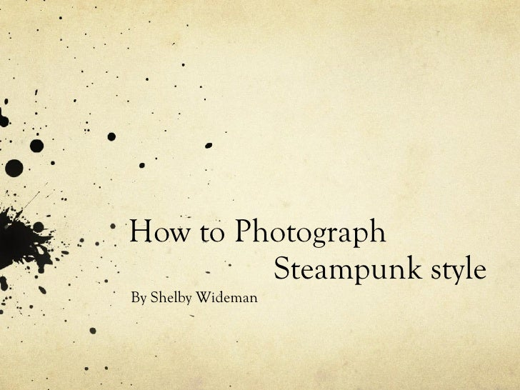 steampunk powerpoint