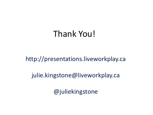 Widening The Welcome: The Community Summit 2014, Julie Kingstone, LiveWorkPlay
