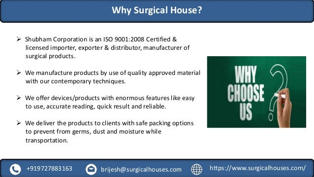Wide range of surgical products supplier & distributor