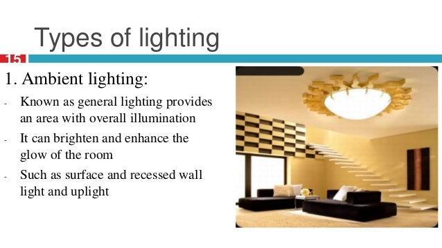 lighting in interior design slideshare ppt