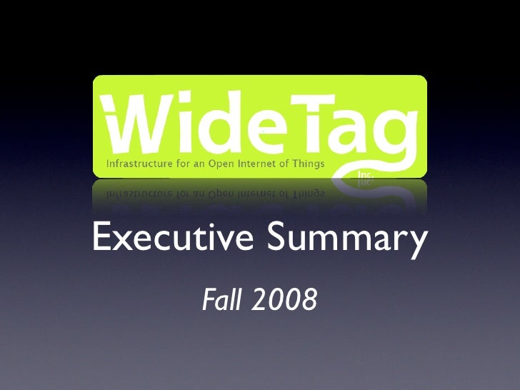 Executive Summary      Fall 2008