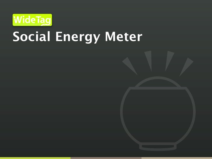 Infrastructure for an Open Internet of Things                                                 Inc.     Social Energy Meter