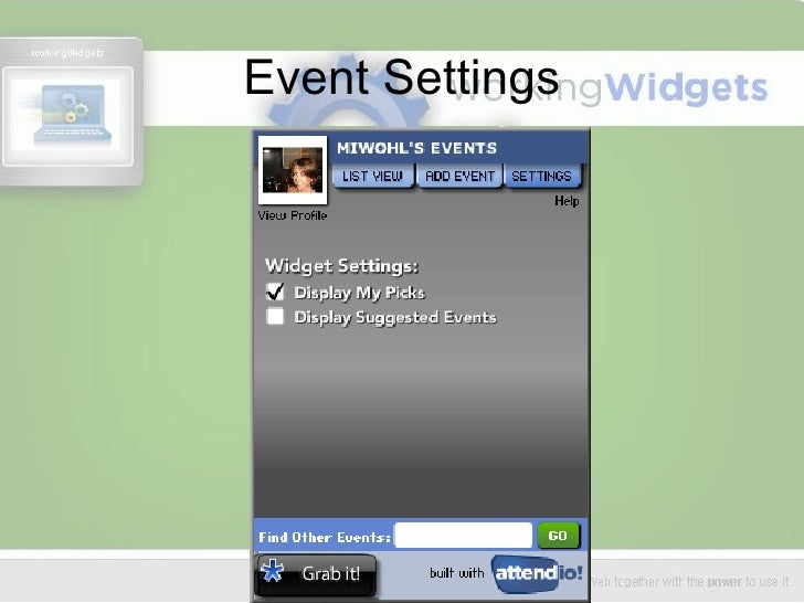 Event Settings