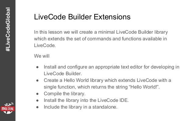 Livecode widget course Slide 3
