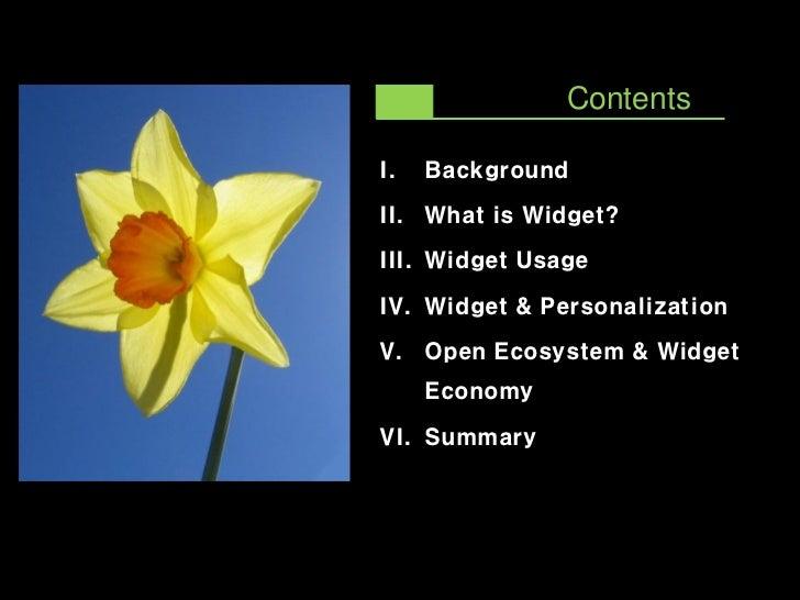 Widget Ecosystem  and Widget Economy  Slide 2