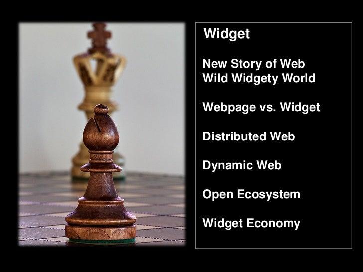 Widget Ecosystem  and Widget Economy  Slide 3