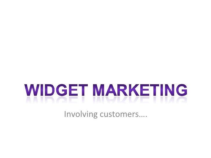 Involving customers….