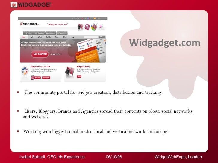 Widgetweb Expo.London08. Widget Vs Banner, Social Way Of Promotion. Slide 2