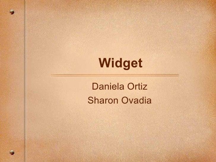 Widget Daniela Ortiz Sharon Ovadia