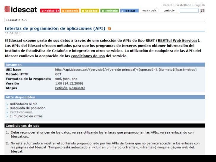 Los widgets del Idescat: una aplicación de las APIs Slide 2