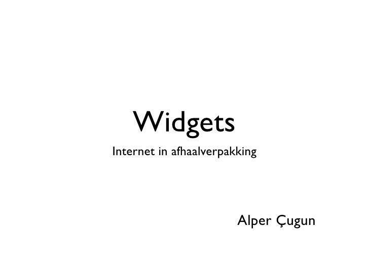 Widgets Internet in afhaalverpakking                             Alper Çugun