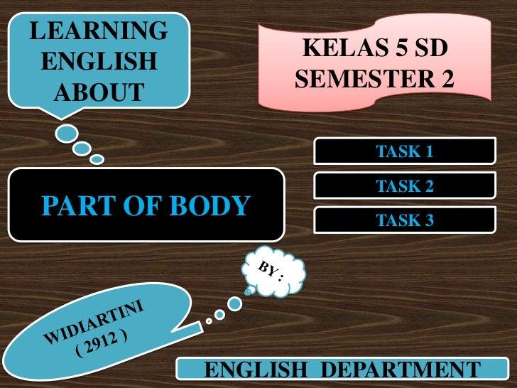 LEARNING                KELAS 5 SD ENGLISH                SEMESTER 2  ABOUT                      TASK 1                   ...