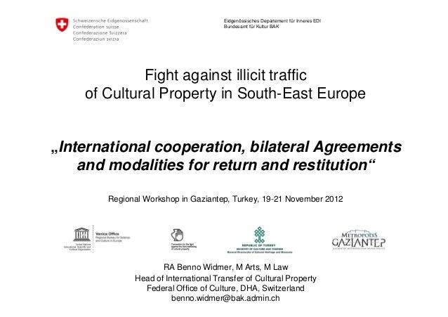 Benno Widmer International Cooperation Bilateral Agreements And Mo