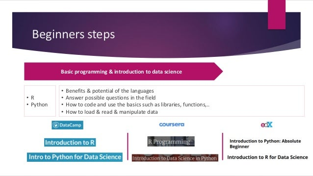 How to start your journey as a data scientist